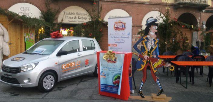 Dal Carnevale … al Natale – In dono a Caritas l'auto del Carnevale 2017